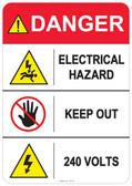 Danger Electrical Hazard, #53-412 thru 70-412