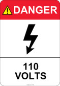 Danger 110 Volts #53-416 thru 70-416