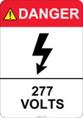 Danger 277 Volts #53-418 thru 70-418