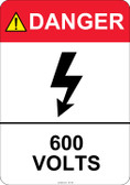 Danger 600 Volts #53-420 thru 70-420
