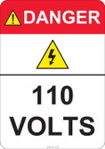 Danger 110 Volts #53-421 thru 70-421