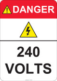 Danger 240 Volts #53-422 thru 70-422