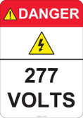 Danger 277 Volts #53-423 thru 70-423
