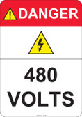 Danger 480 Volts #53-424 thru 70-424