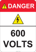 Danger 600 Volts #53-425 thru 70-425