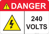 Danger 240 Volts - #53-432 thru 70-432
