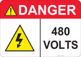 Danger 480 Volts - #53-434 thru 70-434