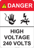 Danger High Voltage - #53-442 thru 70-442