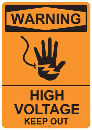 Warning High Voltage Keep Out, #53-501 thru 70-501