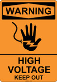 Warning High Voltage Keep Out, #53-501 thru 70-501