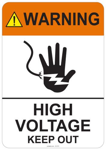 Warning High Voltage Keep Out - #53-701 thru 70-701