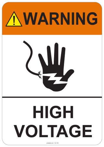 Warning High Voltage #53-702 thru 70-702