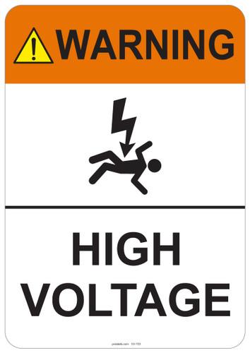 Warning High Voltage #53-703 thru 70-703