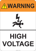 Warning High Voltage #53-703 thru 70-703