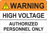 Warning High Voltage #53-705 thru 70-705