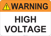 Warning High Voltage #53-707 thru 70-707