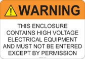 Warning High Voltage #53-710 thru 70-710