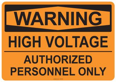 Warning High Voltage, #53-505 thru 70-505