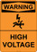 Warning High Voltage, #53-503 thru 70-503