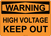 Warning High Voltage Keep Out, #53-506 thru 70-506