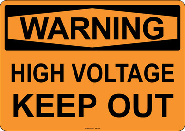 Warning High Voltage Keep Out, #53-506 thru 70-506