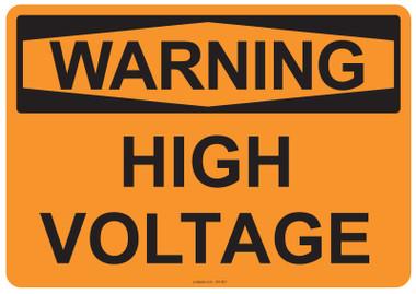 Warning High Voltage, #53-507 thru 70-507