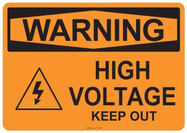 Warning High Voltage, #53-509 thru 70-509