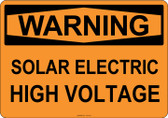 Warning Solar Electric High Voltage, #53-513 thru 70-513