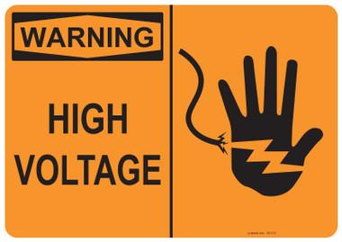 Warning High Voltage, #53-515 thru 70-515
