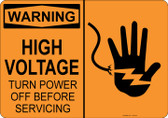 Warning High Voltage, #53-516 thru 70-516