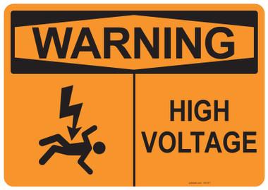Warning High Voltage, #53-517 thru 70-517