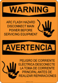 Warning Arc Flash Hazard, #53-520 thru 70-520