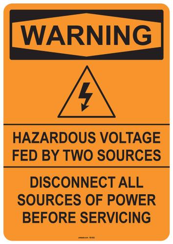 Warning Hazardous Voltage, #53-522 thru 70-522