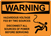 Warning Hazardous Voltage, #53-526 thru 70-526