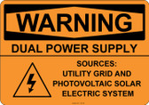 Warning Dual Power Supply, #53-529 thru 70-529