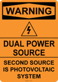 Warning Dual Power Source, #53-531 thru 70-531