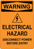 Warning Electrical Hazard, #53-540 thru 70-540