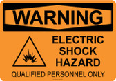 Warning Electric Shock Hazard, #53-542 thru 70-542