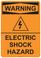Warning Electric Shock Hazard, #53-544 thru 70-544