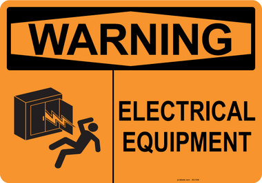 Warning Electrical Equipment, #53-548 thru 70-548