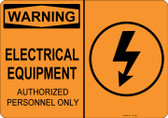 Warning Electrical Equipment, #53-549 thru 70-549