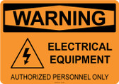 Warning Electrical Equipment, #53-550 thru 70-550