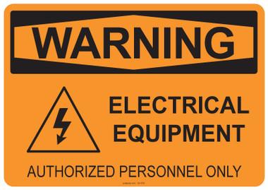 Warning Electrical Equipment, #53-550 thru 70-550