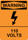 Warning 110 Volts, #53-616 thru 70-616