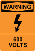 Warning 600 Volts, #53-620 thru 70-620