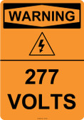 Warning 277 Volts, #53-623 thru 70-623