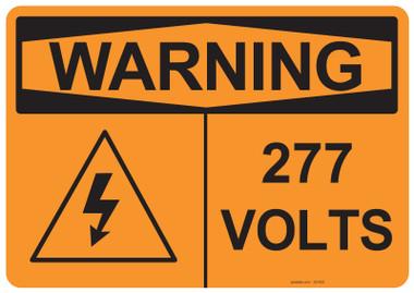 Warning 277 Volts, #53-633 thru 70-633
