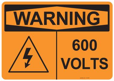Warning 600 Volts, #53-635 thru 70-635