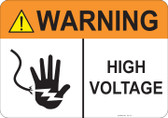 Warning High Voltage #53-711 thru 70-711