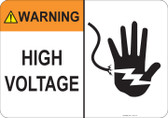 Warning High Voltage #53-715 thru 70-715
